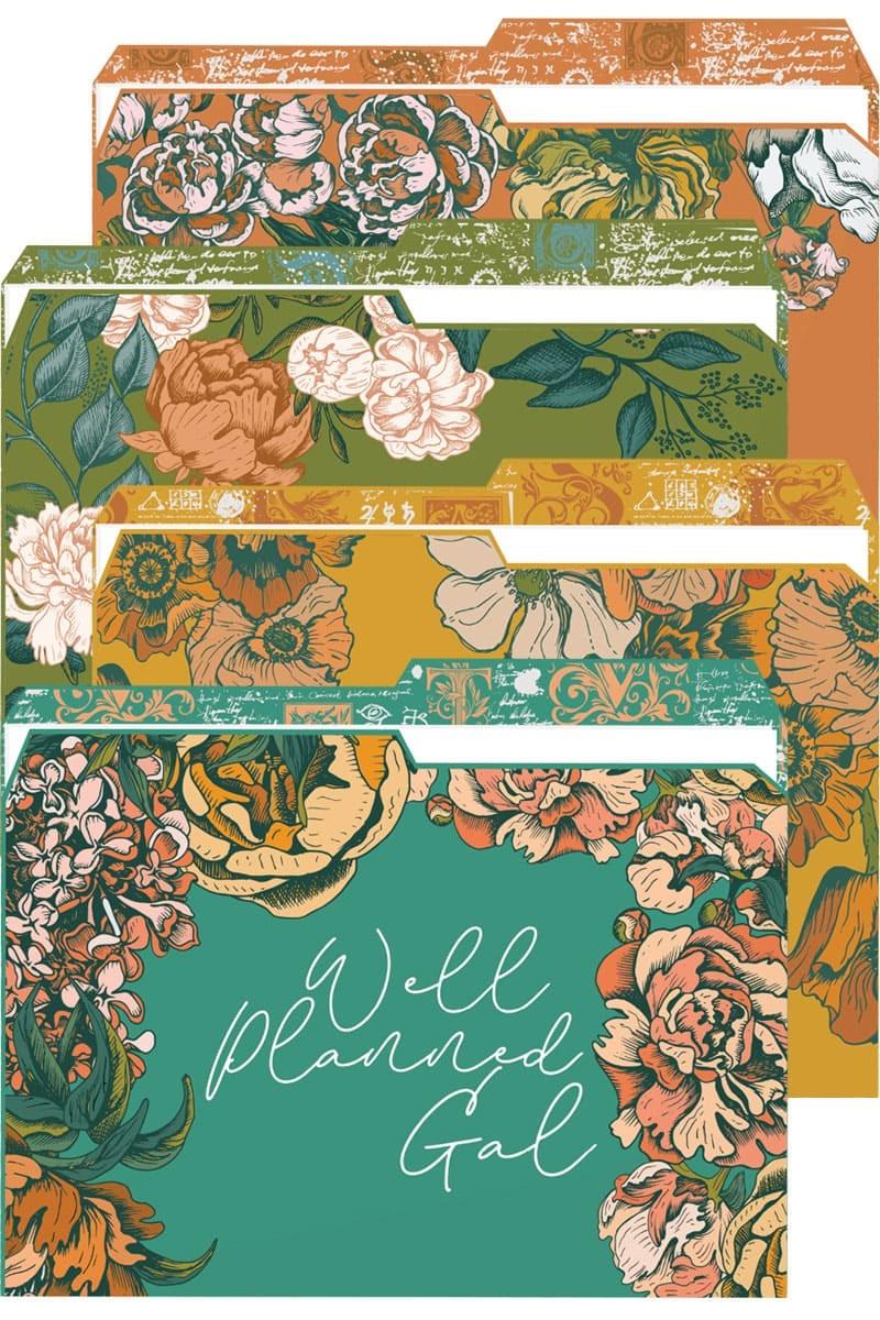 Floral Reversible File Folders