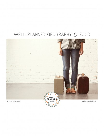Well Planned Geography and Food