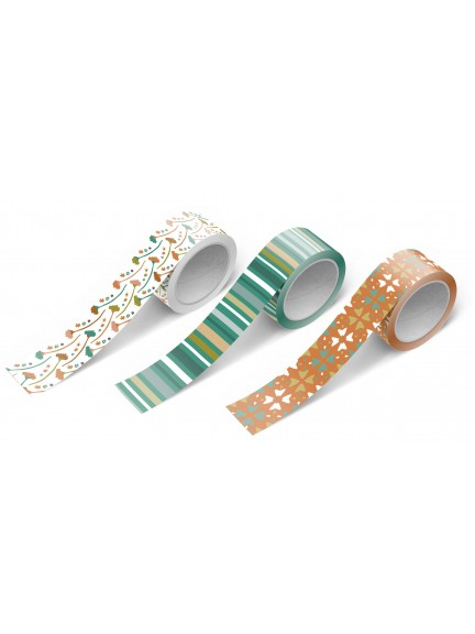 Washi Tape 3 Pack: Vintage Stripes and Florals