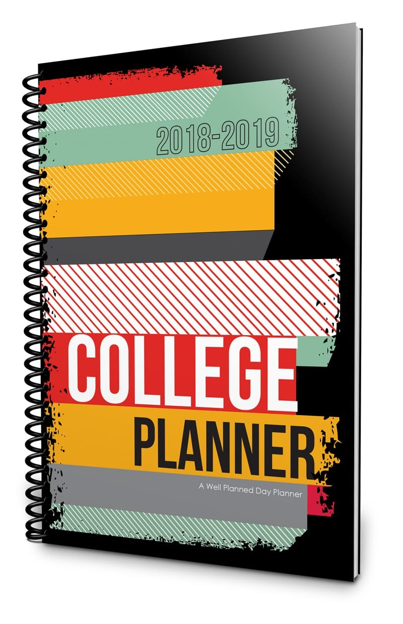 2018 2019 college university planner from well planned gal
