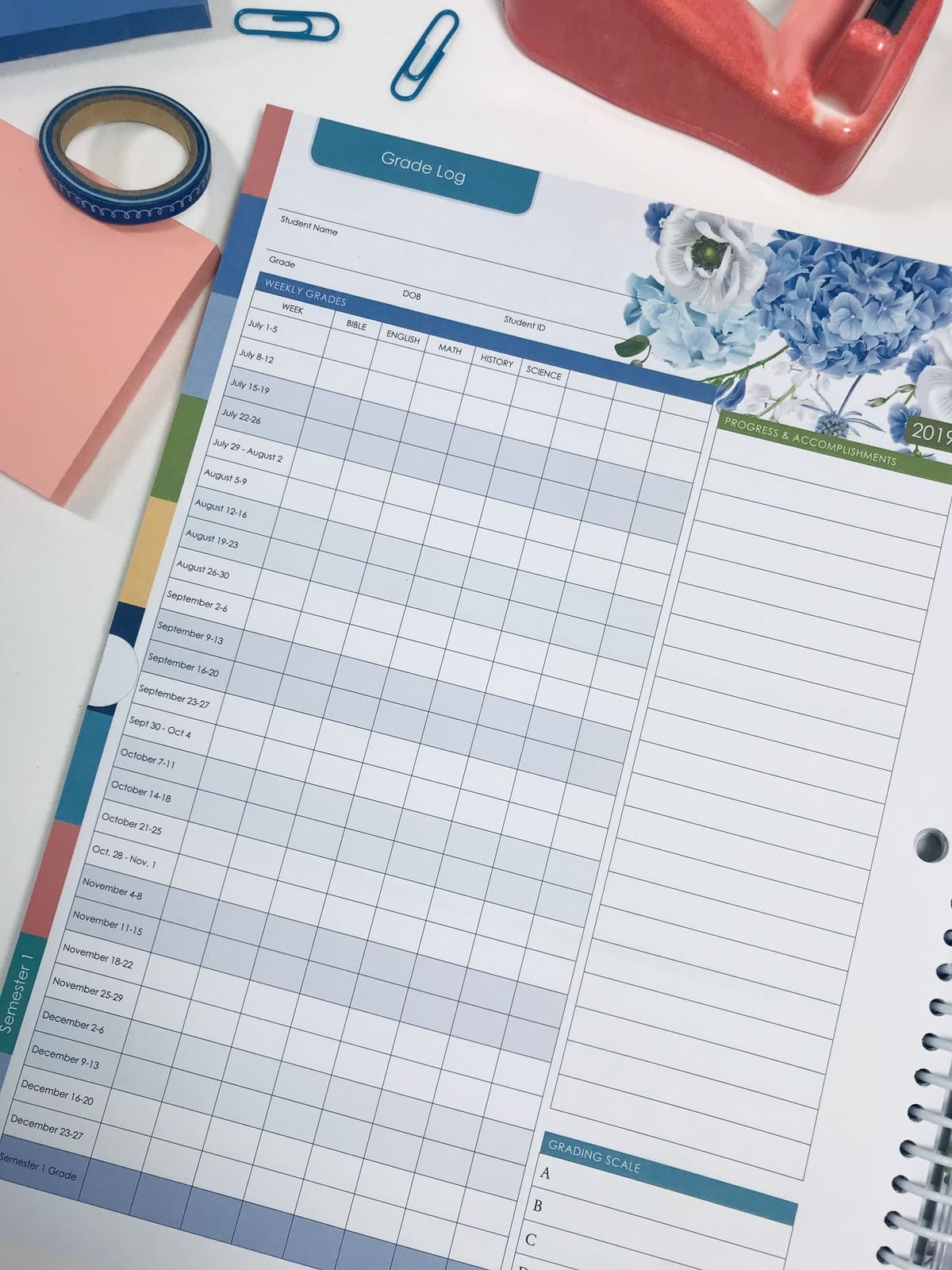 2019-2020 Well Planned Day Family Homeschool Planner