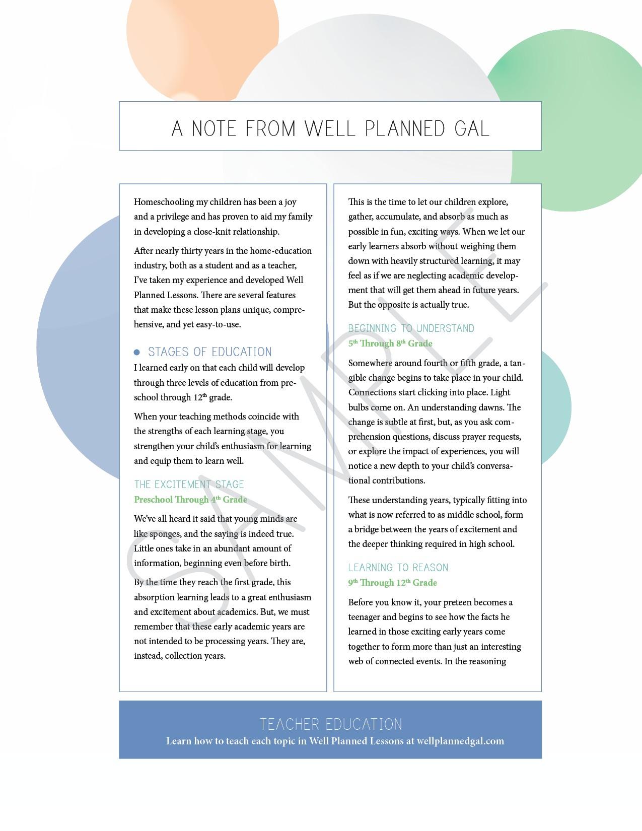 6th Grade Culture & Ideas Lesson Plans